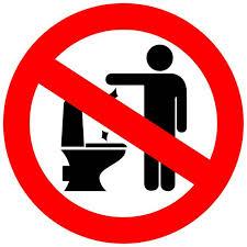 Kein Müll ins Klo -Feuchttücher